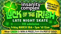 Luck of the Irish Skate | March 18