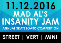 MAD AL'S INSANITY JAM 2016 | NOV 12