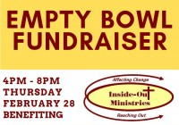 Empty Bowl Dinner Fundraiser Feb 28