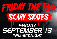 FRIDAY THE 13TH Scary Skates | Sep 13