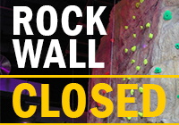 Rock Wall TEMPORARILY CLOSED