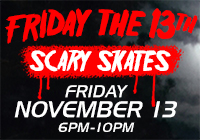 FRIDAY THE 13TH Scary Skates | Nov 13