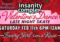 Valentine's Dance Late Night Skate Feb 11